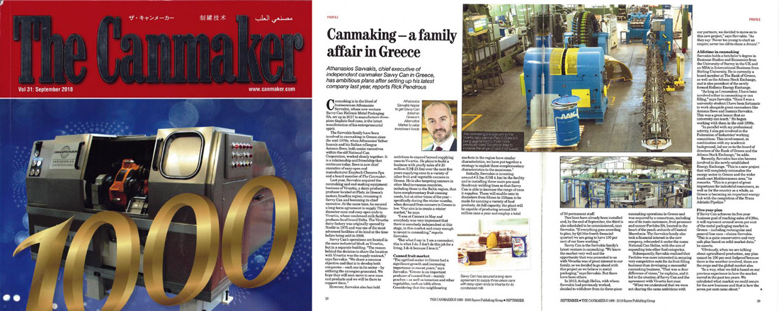 Can Maker Magazine, article about Savvycan